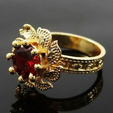 Ethnic Traditional Indian Gold Plated Ring Asian Bollywood Jewellery SZ7.25