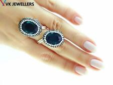 TURKISH HANDMADE 925 STERLING SILVER DRUSY JEWELRY ADJUSTABLE RING VK71