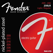 Fender 250LR Nickel-Plated Ball End Electric Guitar Strings 9-46 light/reg gauge