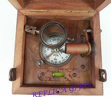 ANTIQUE NAUTICAL BRASS MARINE MASTER BOX & COMPASS TELESCOPE MAGNIFIER