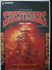 POSTER SUNSET RIDERS FLYER ARCADE RECREATIVA DIN-A 3 DIN A3 KONAMI