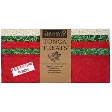 """Timeless Treasures Tonga Treats Jingle Collection 10"""" Charm Squares Christmas"""