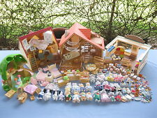 260+ PC LOT EPOCH CALICO CRITTERS PLAYSETS BEARS RABBITS ELEPHANTS FURNITURE