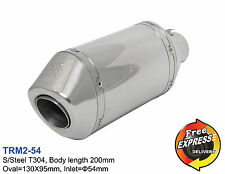 Motorcycle universal S/Steel T304 performance short exhaust muffler 54mm 2.13''