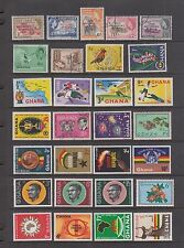 GHANA Lot of EARLY ISSUES, First Overprints to Burma Camp Postage Dues