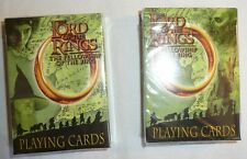 Lord of the Rings Decks of Playing Cards - Lot of 2 - Fellowship Hobbit Villains