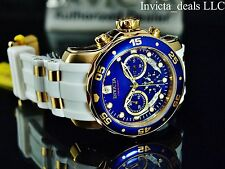 Invicta Mens Scuba Pro Diver Swiss Chronograph 18K GP Admiral Blue Dial SS Watch