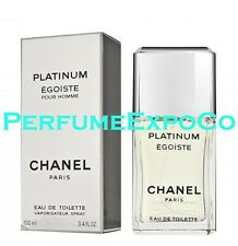 Chanel EGOISTE Platinum Eau De Toilette 3.4oz-100ml EDT *Spray* VINTAGE PKG (WH