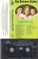 THE ANDREWS SISTERS 20 Greatest hits DIFFICULT   CASSETTE