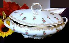 LIMOGES T&V DEPOSE TOURAINE FRANCE Signed 22K Gold Lidded Vegetable Bowl  100 Yr