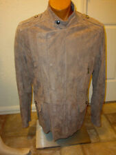 MENS ROBERTO JUST CAVALLI TAUPE TAN SOFT SUEDE COAT JACKET 58