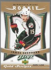 07/08 MVP Gold Script Rookie James Sheppartd /100 374 Wild