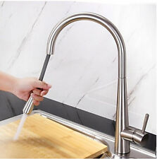 Kitchen Brushed Nickel Sink Mixer Tap Pull Out Spray Swivel Spout Vessel Faucet