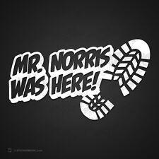 0412 étiquette MR. NORRIS NBR HERE En cas d'échec Baker De Accident Fun Chuck