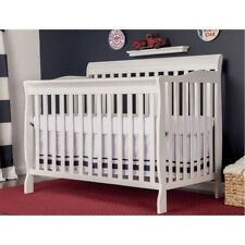 Dream On Me Ashton 5-in-1 Convertible Life Style Baby Bed Fixed-Side Crib WHITE