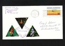 Postally Used LOCAL POST 3 Triangles Rattlesnake Island Port Clinton OH 1974 a m
