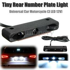 Universal Car Motorcycle LED License Number Plate Rear Tail Light Lamp White