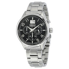 Seiko SPC153 Men's Chronograph Quartz Black Dial Stainless Steel Sport Watch