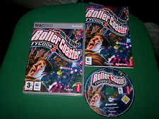 ROLLER COASTER rollercoaster TYCOON 3 APPLE MAC/DVD ( simulation game & complete