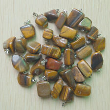 Fashion Natural Tiger Eye Stone Irregular charms Pendants 50pcs/lot Wholesale