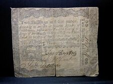 Colonial Currency ✪ Pennsylvania April 3Rd 1773 ✪ Fr Pa-157 2S6D 1/2C ◢Edelmans◣