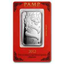 1~OUNCE ~PURE 999 SILVER~ YEAR of the DRAGON ~ PAMP  SUISSE ~ SEALED BAR ~ $9.99