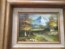 Vintage Estate Original Oil Painting Landscape Mountains Wilderness Signed