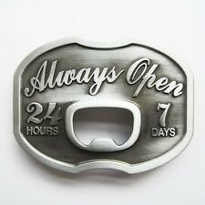 NEW ALWAYS OPEN BOTTLE OPENER BEER SODA BELT BUCKLE