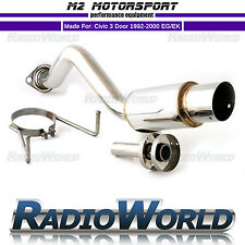 M2 Motorsport Honda Civic EH EK Rear Muffler Back Box Exhaust Side Kicker 100mm