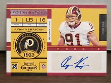 2011 Contenders Ryan Kerrigan Rookie Ticket Auto        Redskins RC Autograph a
