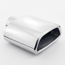 "2.25"" Inlet Trapezoid Out Resonated Rolled Edge 304 Stainless Steel Exhaust Tip"