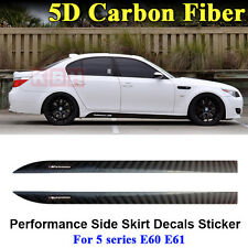 M Performance Side Skirt Stripe 5D Carbon Fiber Sticker for BMW 5 Series E60 E61