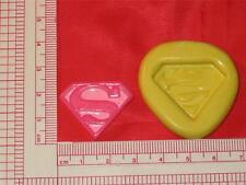 Superman 2D Emblem Mold Silicone Push Mold  Cake Pop Chocolate Resin Clay A772