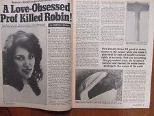 """October, 1984  """"True  Detective""""  Magazine (DALE  JOHNSON/PROF. WILLIAM DOUGLAS)"""