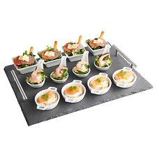 Vonshef 13 pièces tapas canape ardoise serving plateau avec dish set pour salle à manger buffet