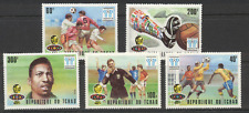 Chad 1978 Football/WC/Sports/Soccer/Pele 5v set (s110)