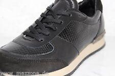 ☆ VERSACE 1969 Luxus Sneaker, Turnschuhe PYTHON schwarz Leder Gr.41 OVP 229 € ☆