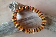 Vintage Natural Baltic Amber Multicolor Bracelet No Enhancement