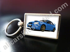 SUBARU IMPREZA METAL KEY RING. CHOOSE YOUR CAR & ALLOY WHEEL COLOUR.