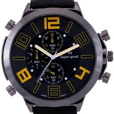 Classic Black Ultra Big Dial Men's Luxury Sport Quartz Watch Cool Military Times