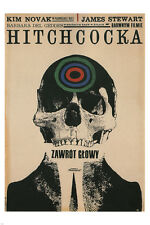 Hitchcock's VERTIGO MOVIE POSTER polish version by Cieslewicz 24X36 NEW - VW9