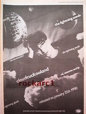 LIGHTNING SEEDS Cloud Cuckoo Land 1989 UK Poster size Press ADVERT 16x12 inches
