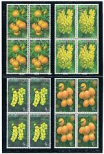 THAILAND 1993 Thai Fruits (Flora) Block of 4
