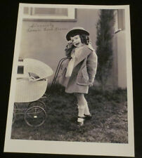 Lassie Lou Ahern child star Our Gang Little Rascals signed autographed photo
