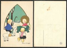 Old Artist Signed Postcard - Helena Scheggia - Nativity Scene