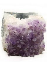 Amethyst Crystal Gemstone Tall Tealight Candle Holder Healing Dream Stone Purple