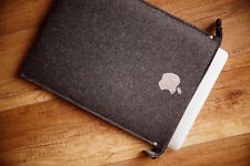 New iPad PRO 12.9‑inch Felt Sleeve Case Cover Bag - ZIP - with silver apple !!!