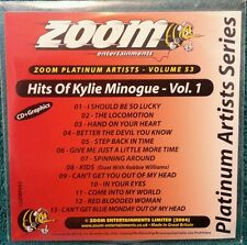 Karaoke cdg disc Zoom Platinum Arts,ZPA53,Kylie Minogue 1, see Descript.,13 trks