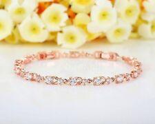 Armband Armreif Strass Rosé Gold Hochwertig Modeschmuck MUST HAVE Braut Edel NEU