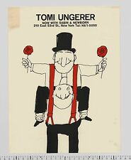 c. 1960 Tomi Ungerer NOW WITH RABIN & NEWBORN rare Self Promo NYC Design Poster